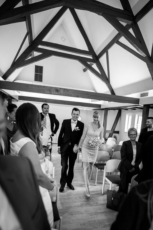 Einzug von Braut und Bräutigam in Eschborn