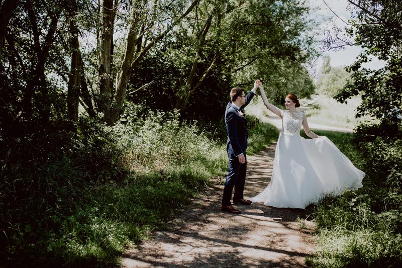 Braut und Bräutigam bei Paarshoot