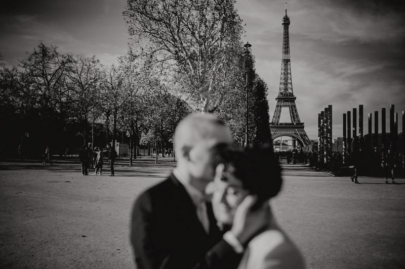 bridal couple in Paris