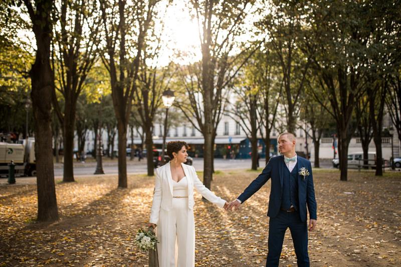 streets of Paris bridal shoot